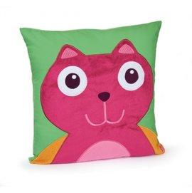 【淘氣寶寶】瑞士【Oops】歐歐皮烏噗司-快樂安撫靠枕(貓咪)【100%溫柔純棉,耐用好清洗】