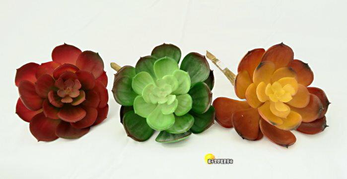 [橘子空間裝置藝術] 3色可選 逼真 人造多肉植物.石蓮花 ☆人造花.居家.店面.櫥窗.玄關.大廳擺飾.園藝資材.用品☆
