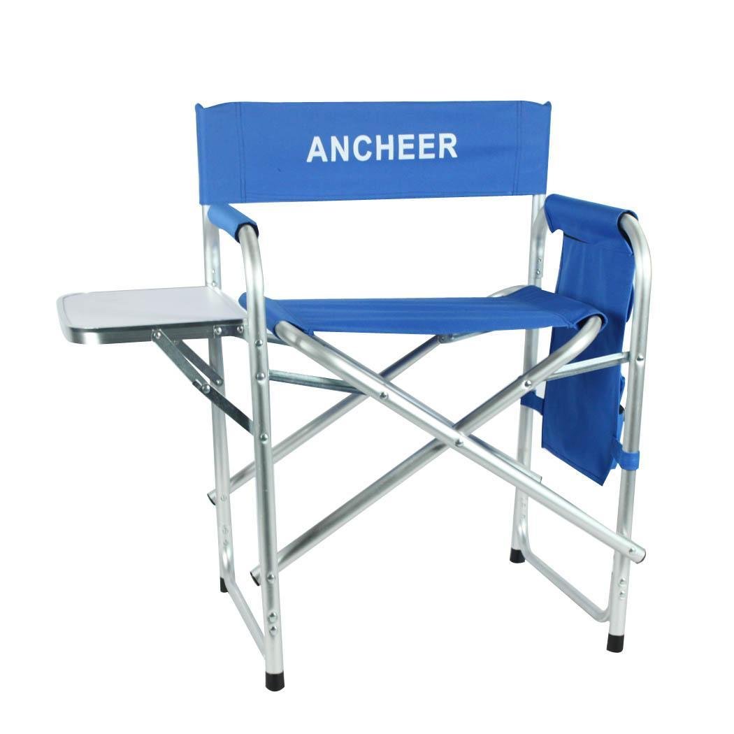 Portable Folding Director Chair with Side Table 3