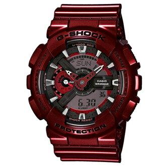 CASIO G-SHOCK GA-110NM-4耀眼金屬紅流行腕錶/51mm