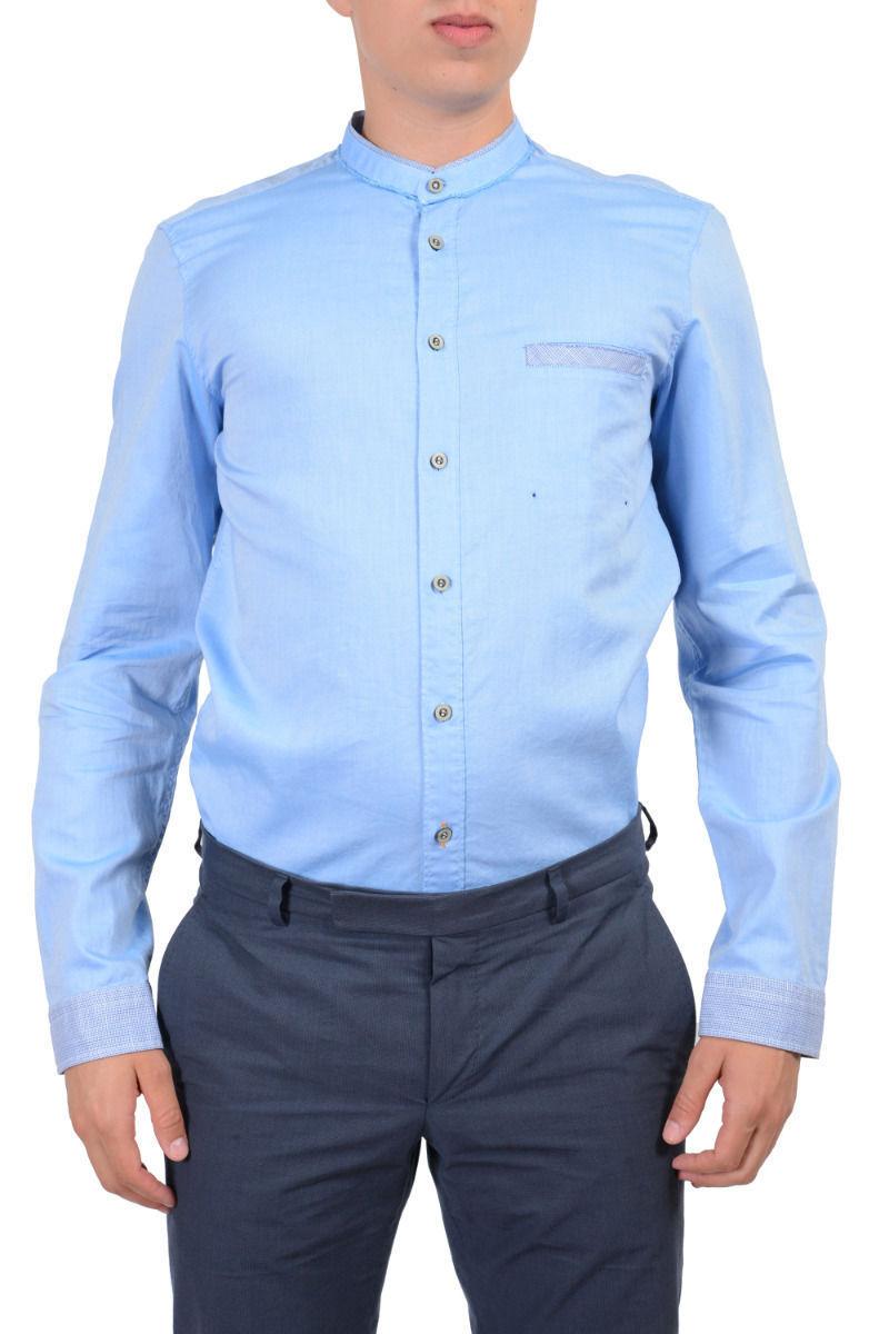 8d57fac4 Hugo Boss Orange Men's Long Sleeves Light Blue Casual Shirt Size US M IT ...