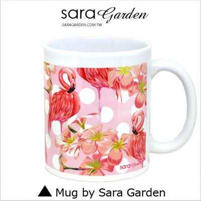客製化 陶瓷 馬克杯 咖啡杯 粉嫩紅鶴火鶴