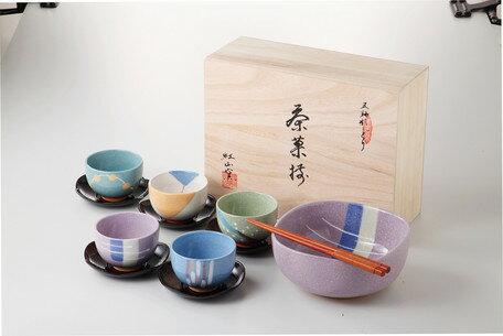 日本深紅山窯 茶杯組 茶杯 / 茶架 / 大玻 / 筷子