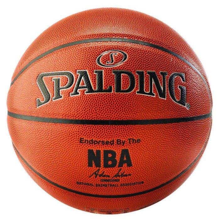 【 H.Y SPORT】SPALDING 斯伯丁籃球 銀色NBA-PU #7號 SPA76018 室內/室外