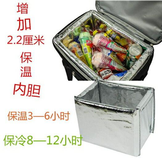 折疊保溫箱外賣送餐手提保溫冰包加厚野餐包【步行者戶外生活館】