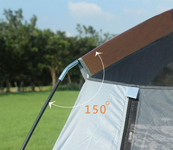 野樂全適能氣候帳 四面門可全開 四邊都有大型延伸屋簷  一房一廳 客廳帳 露營 戶外ARC-642 野樂 Camping Ace 1