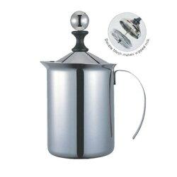 免運費↘Pearl Horse寶馬牌18-8不鏽鋼雙層奶泡器 奶泡壺 奶泡杯 咖啡奶泡機_2059生活居家館