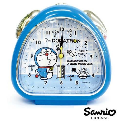 深藍款【日本進口】哆啦a夢 DORAEMON 鬧鐘 造型鐘 指針時鐘 燈光設計 小叮噹 三麗鷗 Sanrio - 055098