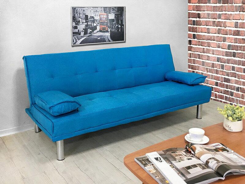 布沙發床 三人位沙發床 限時特價 三色可選 《心之綠洲》卡其 藍色 灰色 綠色 非 ikea 宜家  !新生活家具! 樂天雙12 5