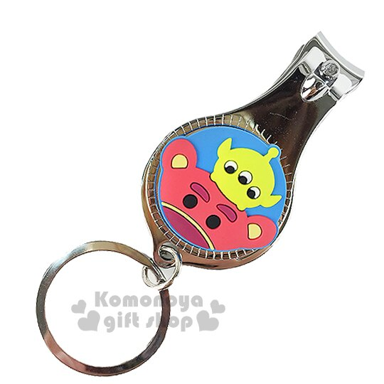 〔小禮堂〕迪士尼 Tsum Tsum 熊抱哥三眼怪 指甲剪《小.藍.大臉.附鑰匙圈》方便隨身攜帶
