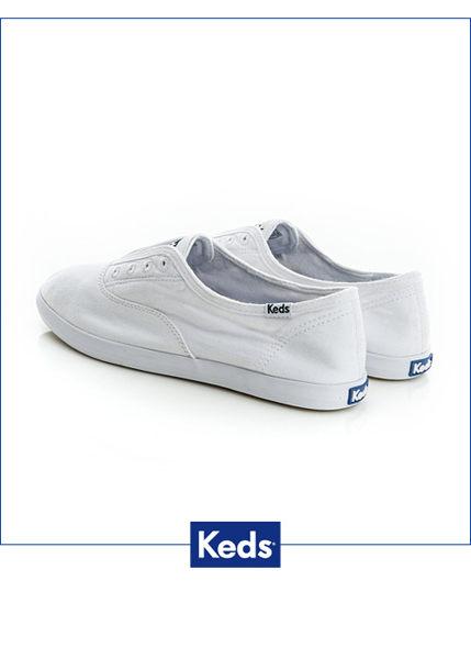 Keds 水洗樂活帆布鞋(白) 白鞋│套入式│懶人鞋│平底鞋 1