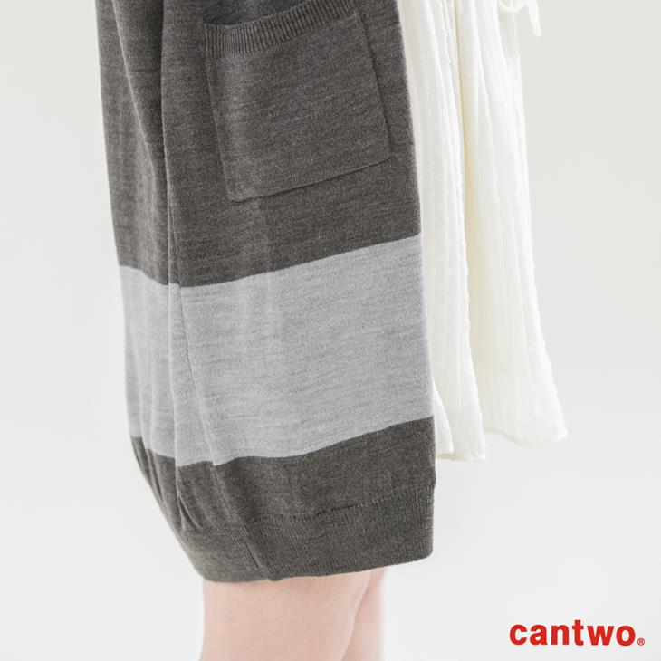 cantwo素色長版針織罩衫(共三色) 5