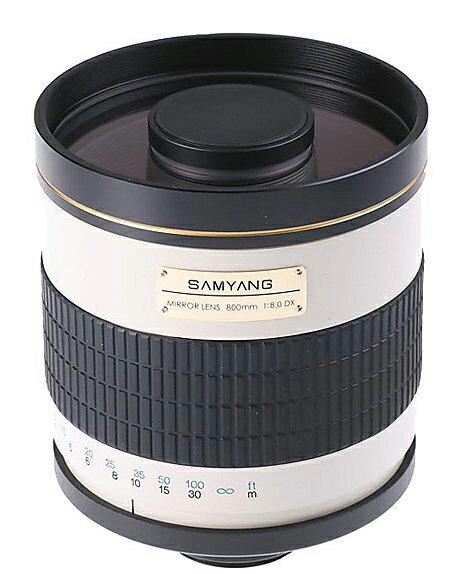 Samyang 鏡頭專賣店: 800mm/F8 反射鏡(For Nikon,Canon,Pentax,Sony,Olympus 4/3,T mount)