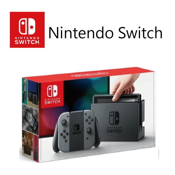 任天堂NintendoSwitch灰色手把組-贈遊戲片瑪利歐賽車8豪華版