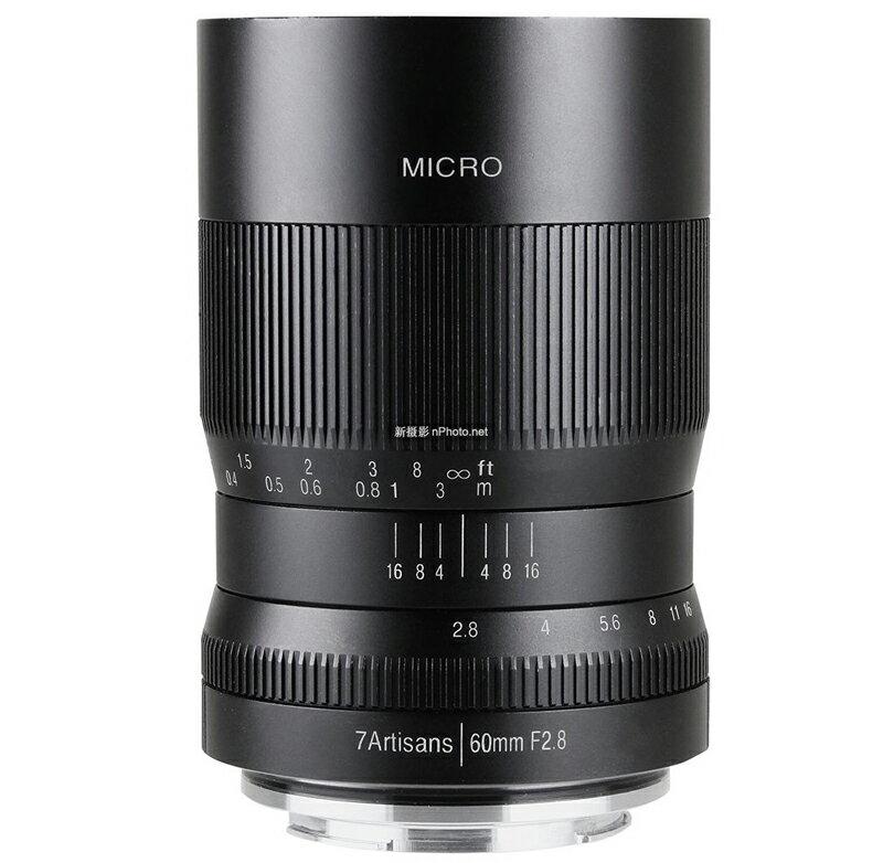 七工匠 7artisans 60mm/F2.8 for SONY E(APS-C) 黑色 微單鏡頭 總代理公司貨