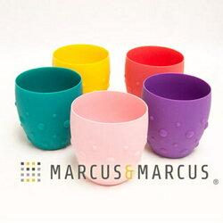 加拿大MARCUS&MARCUS動物樂園矽膠防滑學習杯(長頸鹿黃/大象綠/粉紅豬/鯨魚紫/獅子紅)
