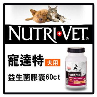 【力奇】寵達特 犬用益生菌膠囊60錠-720元>可超取(F001A18)