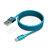 【0501-0531刷卡最高回饋1500元刷卡金】Micro USB Cable金屬編織傳輸線1.2m  藍色 - 限時優惠好康折扣