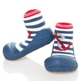 【淘氣寶寶】韓國【Attipas】快樂腳襪型學步鞋-水手深藍XL