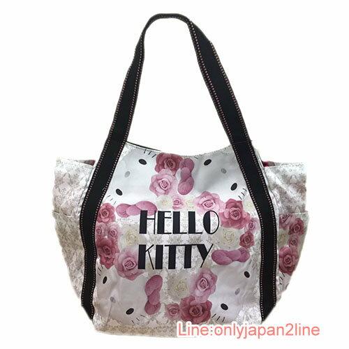 【真愛日本】17031100051 KTxDearisimo托特包-玫瑰白 三麗鷗Hello Kitty凱蒂貓 托特包 手提包