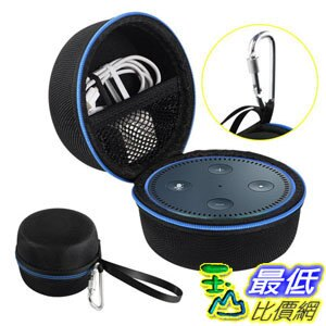 [106美國直購] AIRSOFTPEAK Amazon Echo Dot 收納殼保護殼 Portable Travel Bag Hard Case