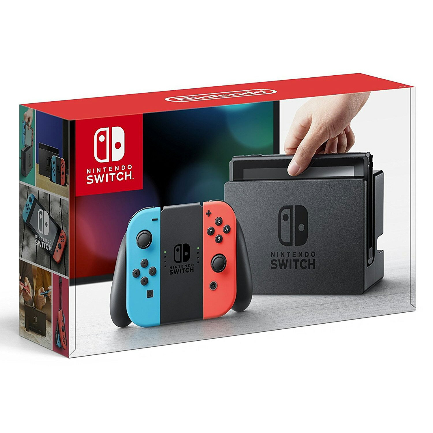 Nintendo Switch Console System 32GB with Neon Blue and Red Joy-Con Wireless Controllers 0