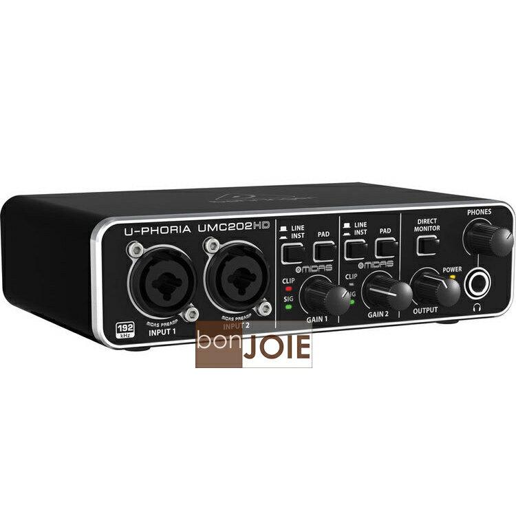::bonJOIE:: 美國進口 Behringer UMC202HD USB 錄音介面 (全新盒裝) USB2.0 德國耳朵牌 錄音卡 內建48V幻象 24Bit高取樣 UMC202 HD