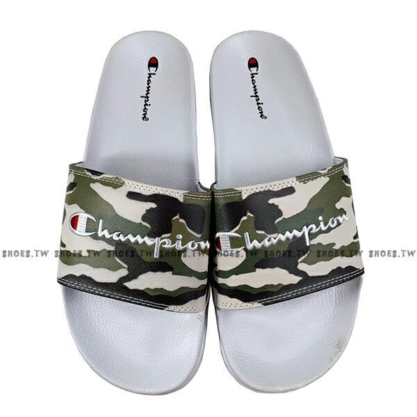 Shoestw【913250270】CHAMPION 拖鞋 運動拖鞋 綠白迷彩 男女尺寸都有 2
