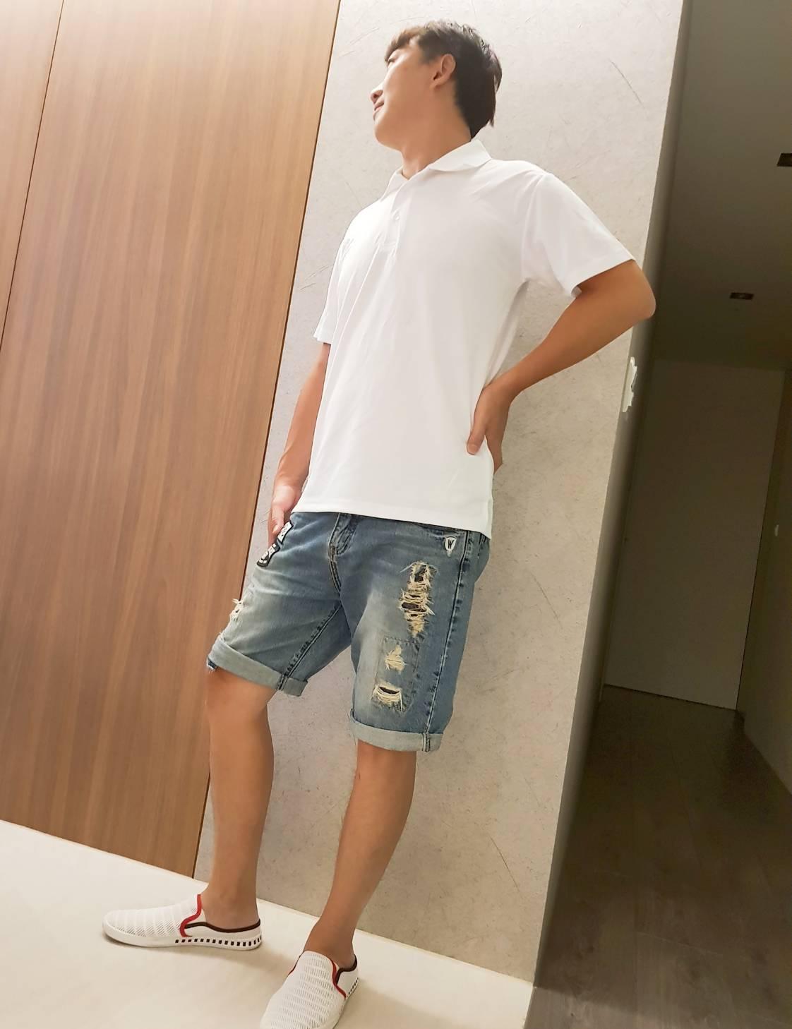 吸濕排汗POLO衫(白色)