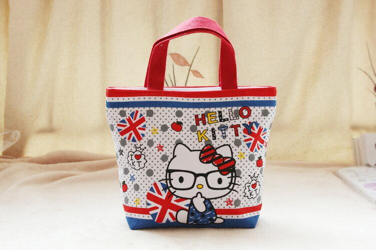 日韓 款 Kitty手提包小布包便當袋 ~  好康折扣