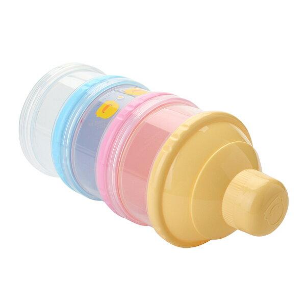 『121婦嬰用品館』黃色小鴨 不易漏3層奶粉罐 2