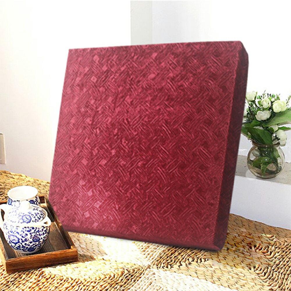 【巴芙洛】艾結厚坐墊55X55X5cm-紅色款