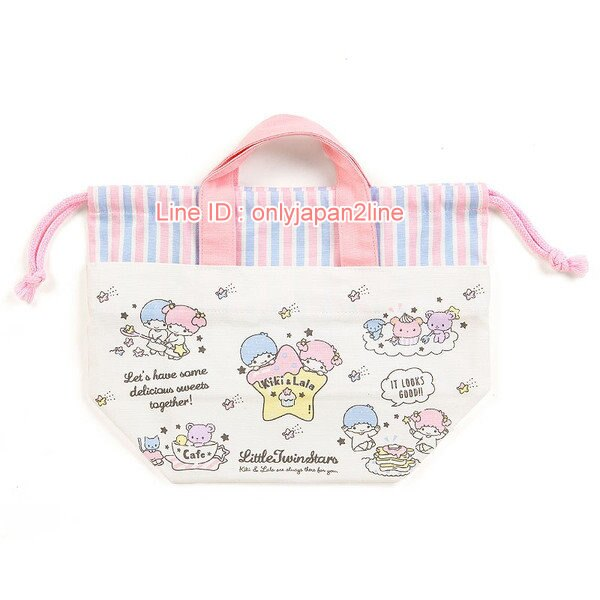 【真愛日本】4901610356661 日本製兩用束口提袋-TS 三麗鷗家族 Kikilala 雙子星  提袋 袋子 收納