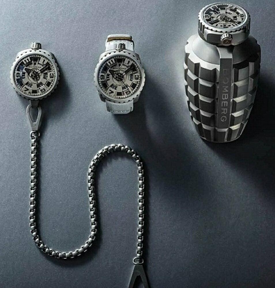 BOMBERG 骷髏計時碼錶限量表款BS45CHPBA.051.3(錶身可拆下,另組成懷錶)