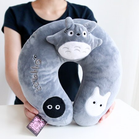 立體龍貓U型枕頭 旅行優眠頸枕 抱枕 午安枕 午睡枕 靠枕 靠墊 豆豆龍 Totoro 宮