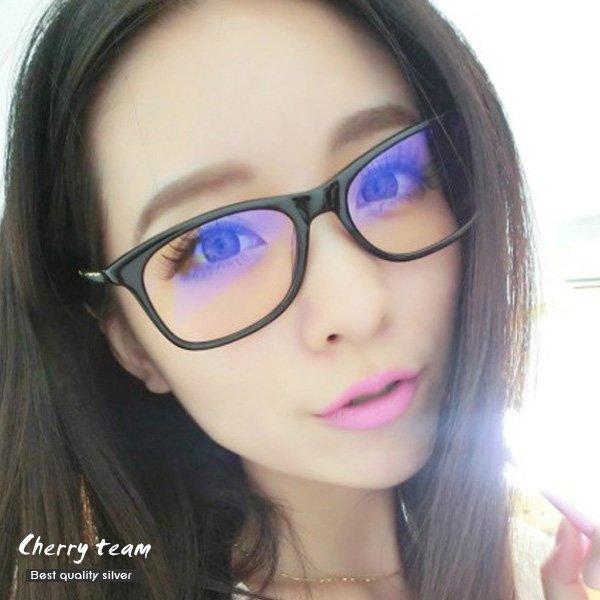 金屬鍊條編織造型眼鏡1307【櫻桃飾品】【1307】