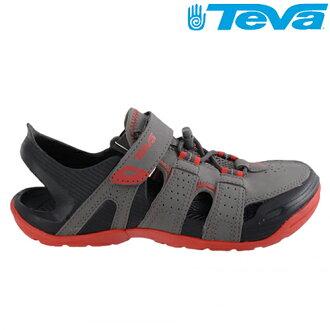 TEVA兒童(大童)護趾水陸運動涼鞋Barracuda sport -TV1003953CLGY 灰紅[ 陽光樂活 ]
