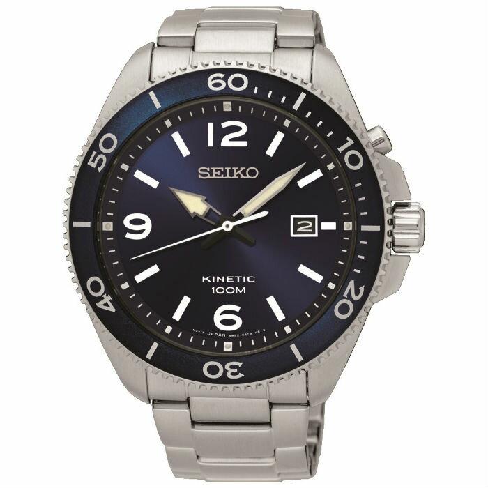 Seiko CS系列 5M82-0AY0B(SKA745P1) 人動電能大直徑運動腕錶/藍面44.7mm