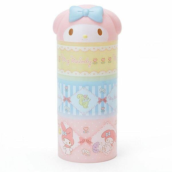 日本直送 Sanrio 三麗鷗 Hello Kitty / 美樂蒂 My Melody 圓柱形三層 餐盒 日本製