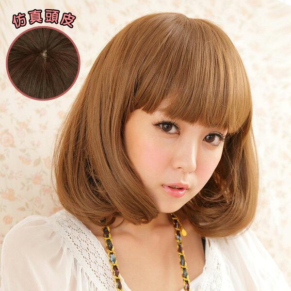 雙兒網:韓劇女主角空氣薄瀏海超美耐熱短髮假髮【MB014】☆雙兒網☆