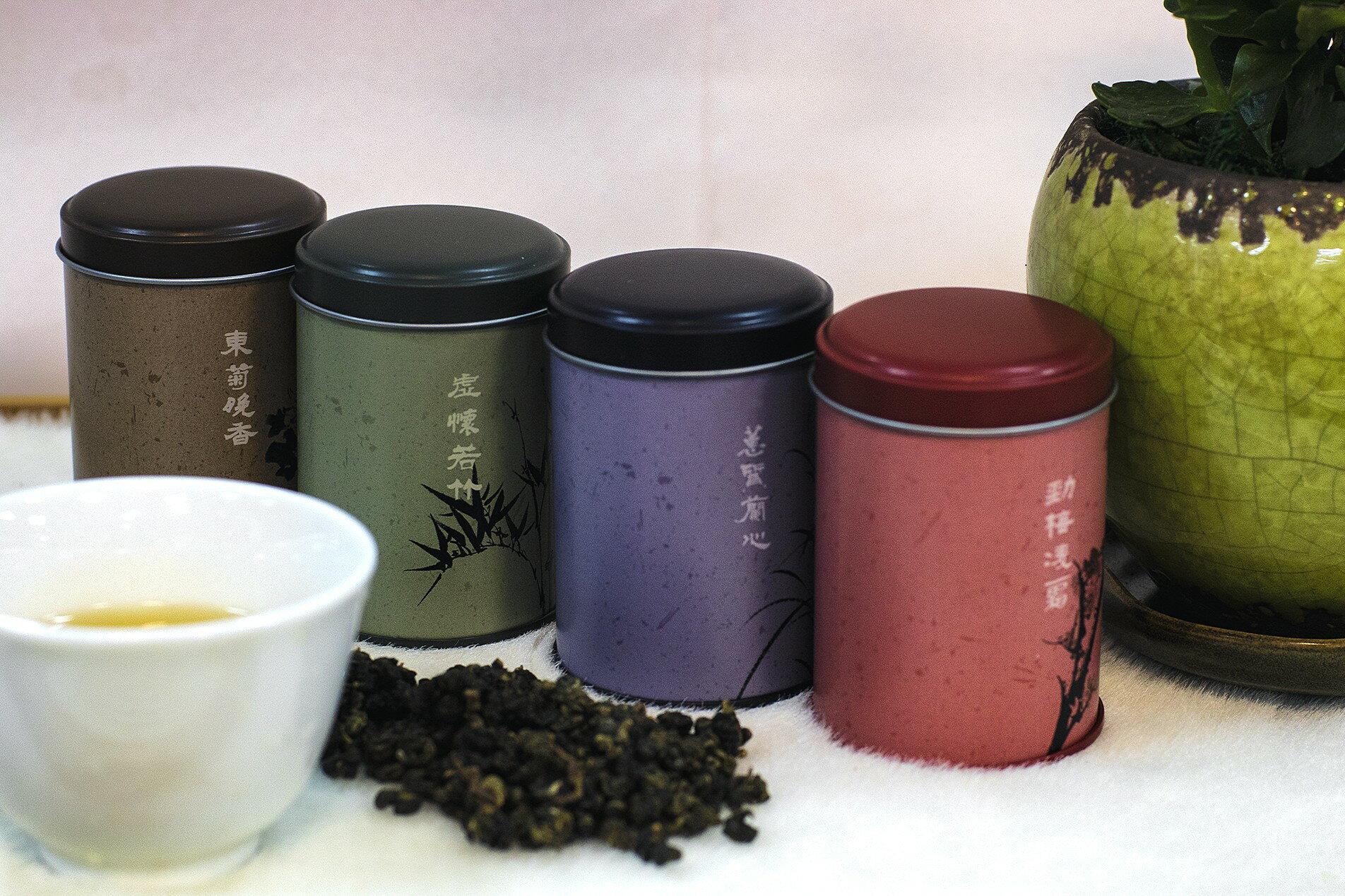 [龍寶咖啡]四君子高雅茗茶組-嚴選台灣好茶木柵鐵觀音茶葉4兩