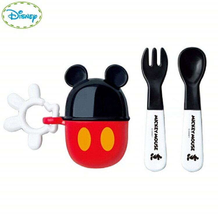 日本迪士尼 Disney 米奇米妮造型攜帶餐具叉子+湯匙組