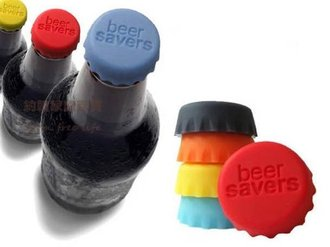 約翰家庭百貨》【AB160】啤酒保鮮 矽膠酒瓶蓋 軟膠塞 6枚裝