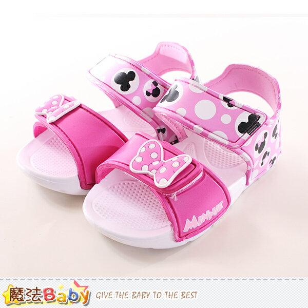 女童涼鞋 迪士尼米妮正版輕量涼鞋 魔法Baby~sk0001