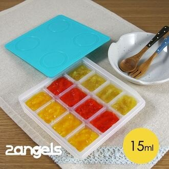 ★衛立兒生活館★2angels 矽膠副食品製冰盒 15ml