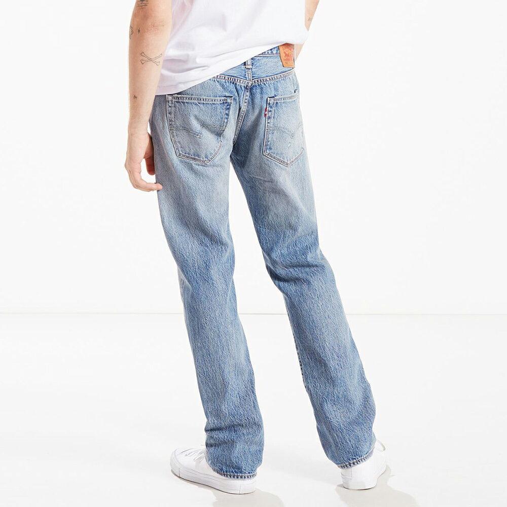 Levis 男款 上寬下窄  /  502 Taper 牛仔褲  /  淺藍洗舊  /  及踝款 3
