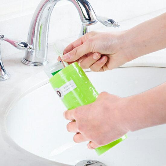♚MY COLOR♚盒蓋帶鏡洗漱收納盒 牙刷 牙膏 旅行 出差 衛生 乾淨 文具 餐具 閨密 時尚【G65】