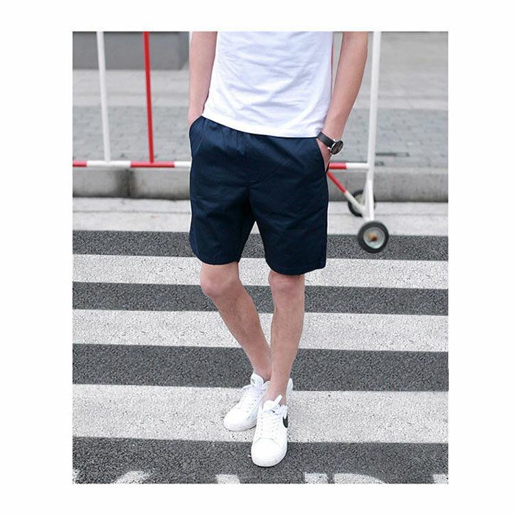 【專區任選2件$580】 最新款日系新品潮流經典純色休閒短褲 6