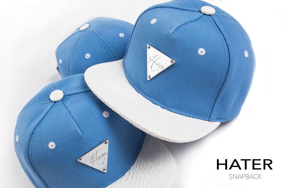 ►法西歐_桃園◄ HATer Snapback 新藍天白雲排扣棒球帽 天藍 白 紀卜心著用