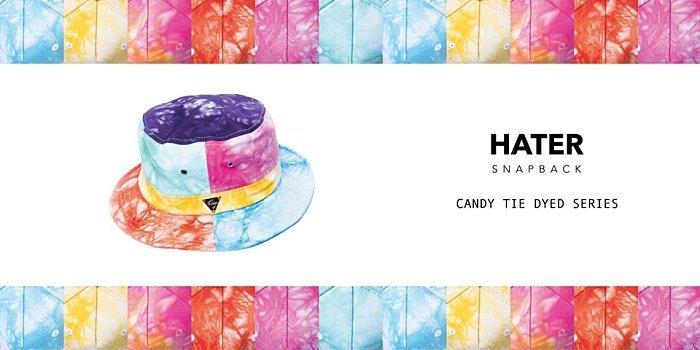 ►法西歐_桃園◄  HATer 繽紛糖果色渲染拼接 平頂漁夫帽 渲染系列 紮染色
